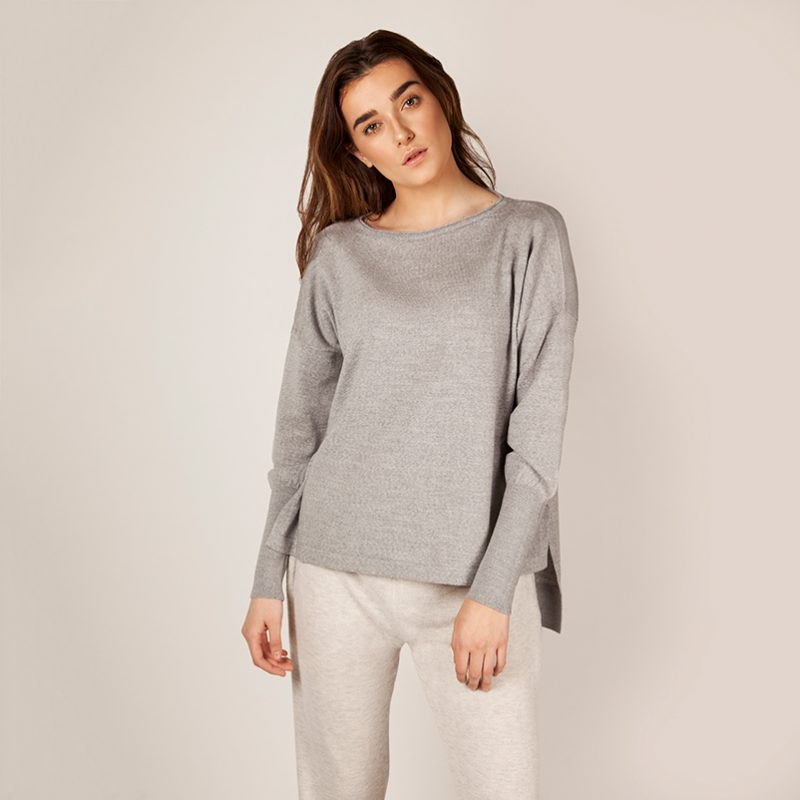 Eloise Merino Sweater Grey