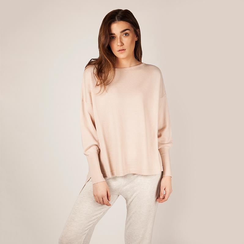 Eloise Merino Sweater Pink