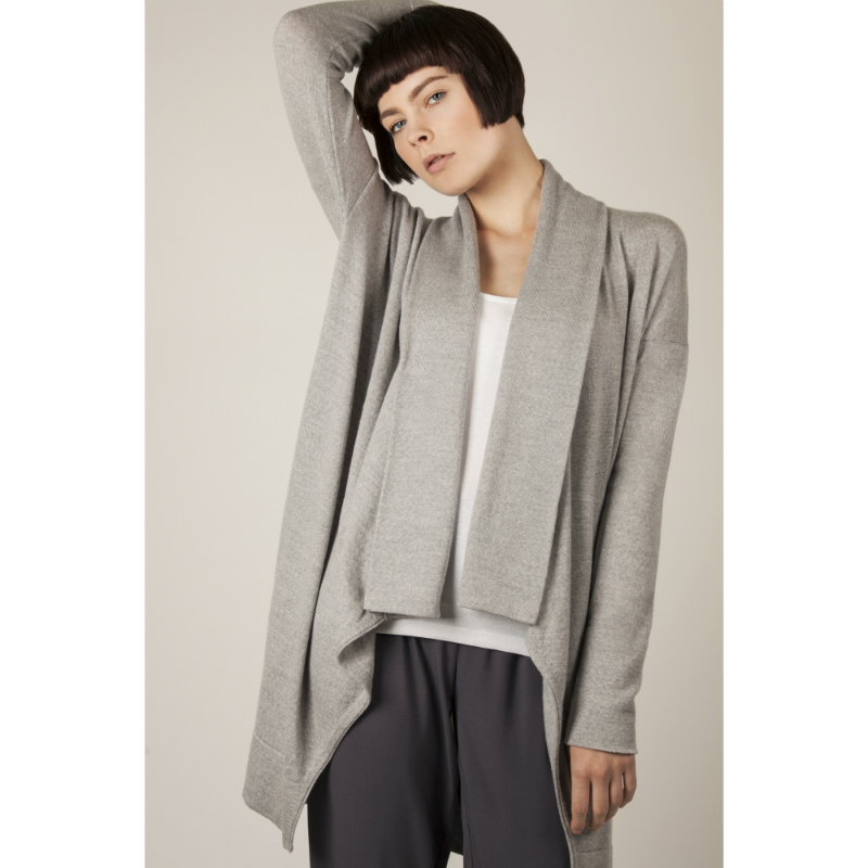 Long Grey Cardigan from Flock by nature in merino wool