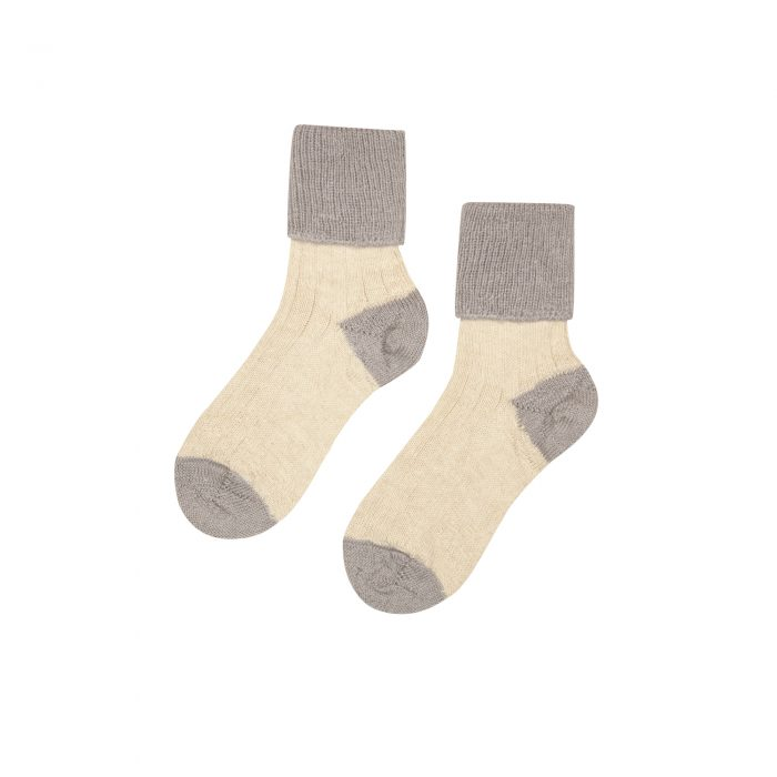 Hazel alpaca socks in grey