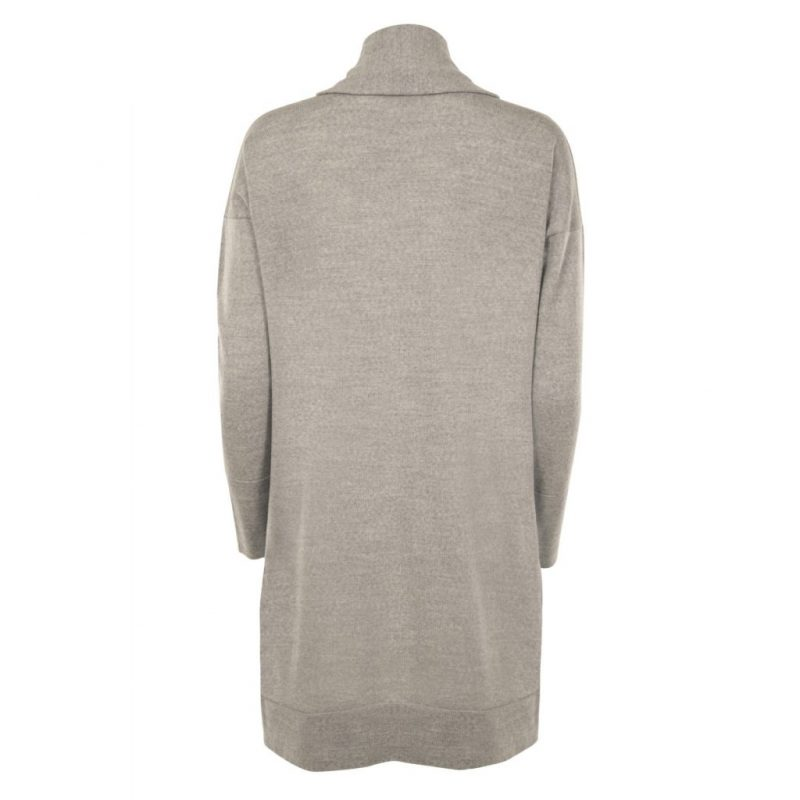 Long Grey Cardigan from Flock by nature | back