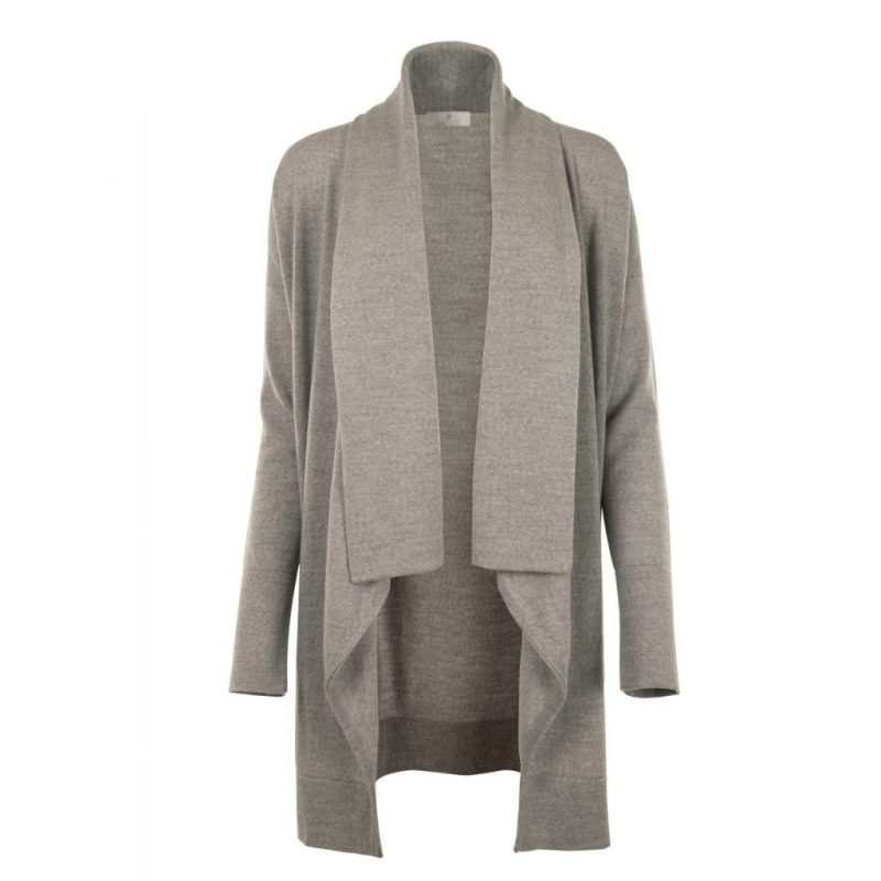 Long Grey Cardigan from Flock by nature | front