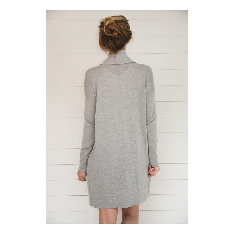 Long Grey Cardigan from Flock | back