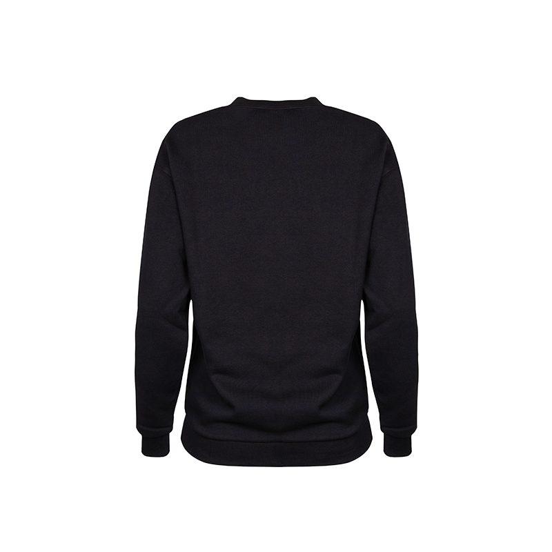 Exhale Sweatshirt_Black Back_Flock