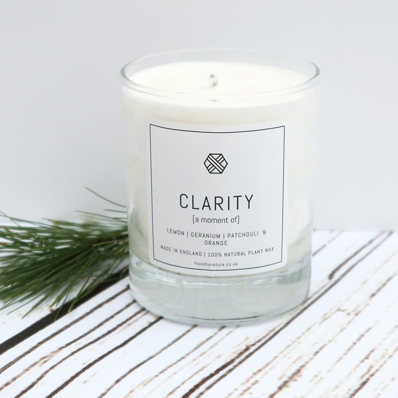 Flock Candle with Clarity fragrance