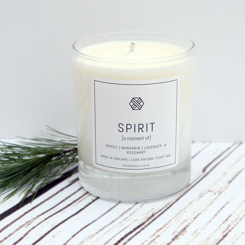 Flock Candle With Spirit Fragrance